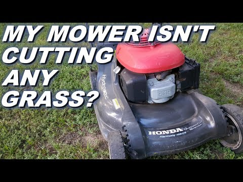 Honda Lawnmower Doesn T Cut Grass Broken Blade Control Cable Fix Replacement Youtube