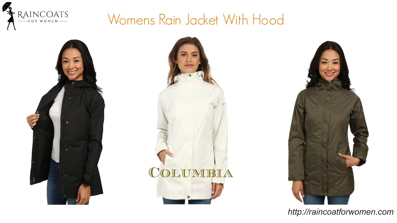 Womens Rain Jacket With Hood - YouTube