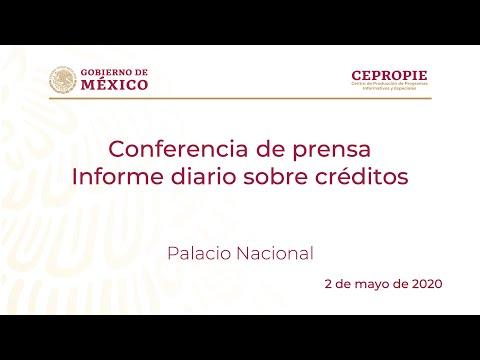 Conferencia de prensa. Informe diario sobre créditos. Sábado 2 de mayo de 2020