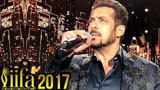 Salman Khan Sings Main Hu Hero Tera At IIFA 2017