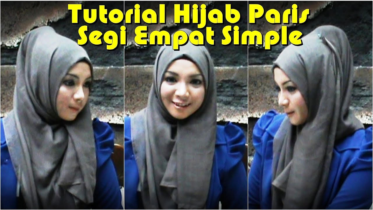 Hijab Tutorial Paris Segi Empat Simple 2014 YouTube