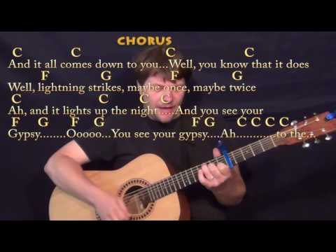 Gypsy (Fleetwood Mac) Guitar Cover Lesson with Chords/Lyrics