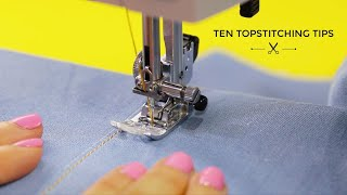 Ten Topstitching Tips