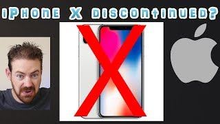 Apple iPhone X discontinued ?