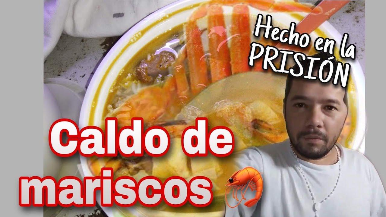 Hicimos CALDO DE MARISCOS /caldo de 7 mares en la prisión ,los invito 😋😋