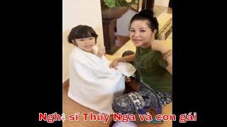 Nghệ sĩ Thúy Nga trổ tài cắt tóc cho con gái 04/01/2019