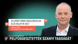 Felfüggesztették Szanyi Tibor tagságát 19-06-29