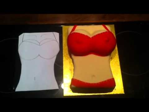 Make a boob shaped cake how