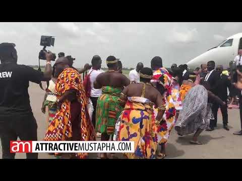 Nana Appiah Mensah arrives in Kumasi for akwasidae festival
