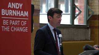 Andy Burnham Labour leadership candidate Key Policies at Manchester 17-08-2015