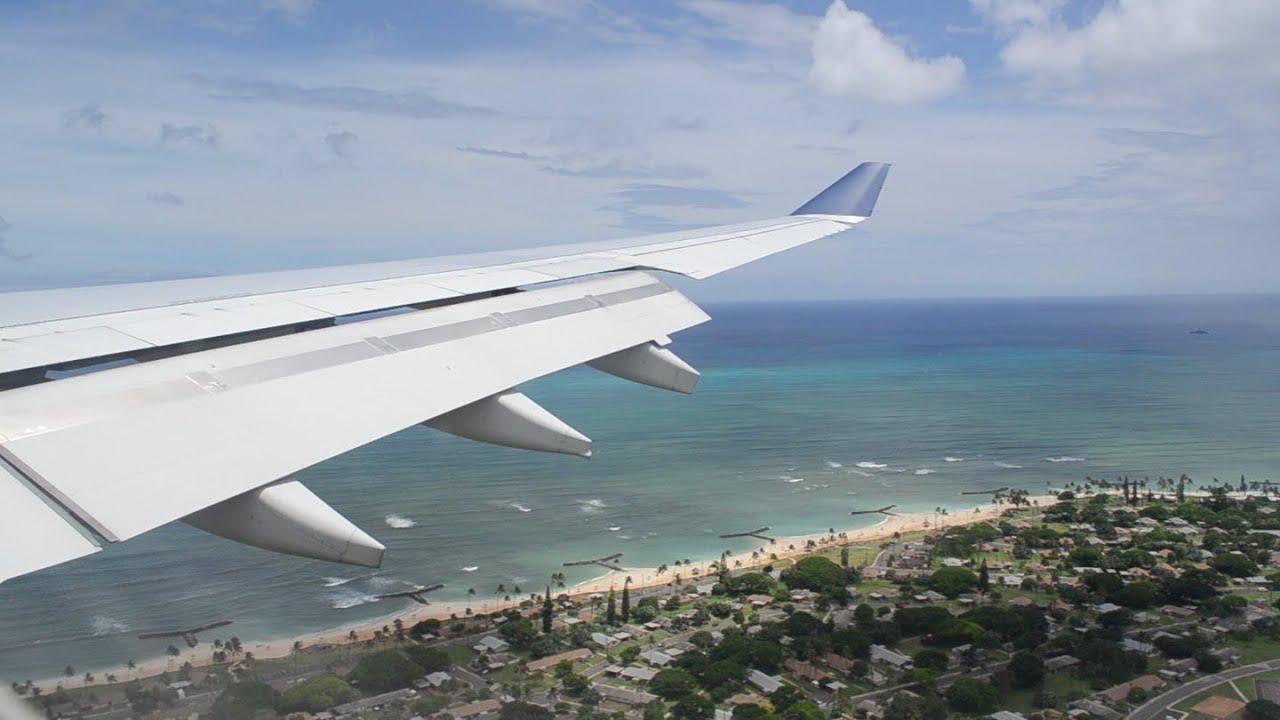 Delta A330 300 Landing At The Honolulu International
