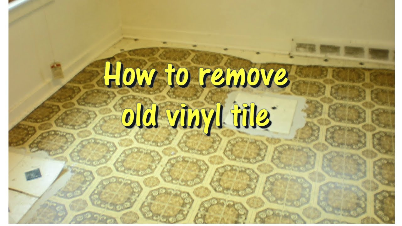 how to remove old vinyl tile