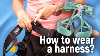 How to wear a Harness - Sport Climbing Level 1 Tutorial | MOA Academy