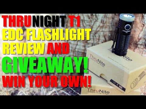 Thrunite T1 EDC Flashlight Review and GIVEAWAY!
