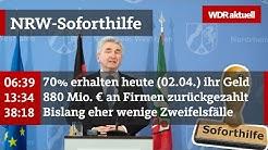 NRW-Soforthilfe 2020: Das ist der Zwischenstand der Wirtschaftshilfen | WDR aktuell