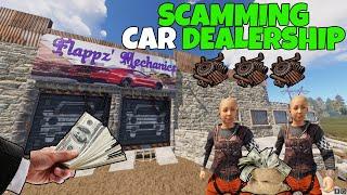 RUST | RUNNING A *CAR SCAM SHOP* and MECHANICS (New Car Update!)