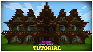 minecraft medieval mansion build tutorial huge interior