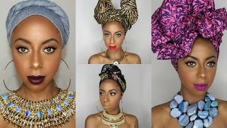 Download Video 4 Different ways to tie a headwrap/ turban || Jessica Pettway MP3 3GP MP4