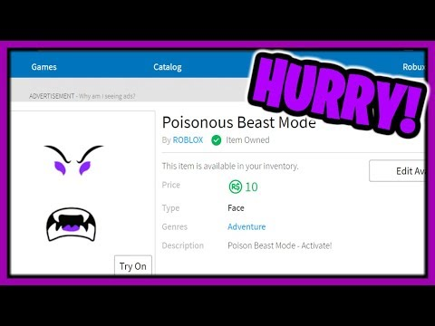 New Roblox Beastmode Limited Time 10r