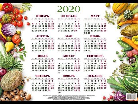 Календарь на 2020 год с праздниками и выходными