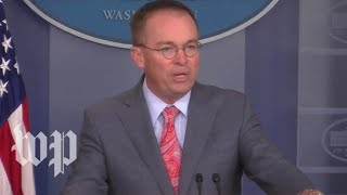 Watch live: Trump's acting chief of staff Mulvaney speaks amid impeachment inquiry