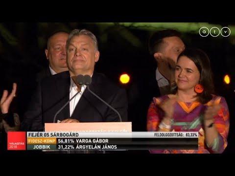 Választás 2018 - Orbán Viktor győzelmi beszéde