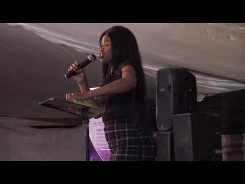 Mrs Sijeku Preaching Offering At Apostolic Mission Centre