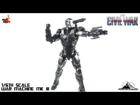 Optibotimus Review:  Hot Toys Captain America Civil War WAR MACHINE MK III