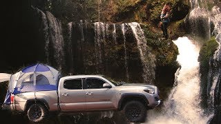 Truck Bed Tent Dispersed Camping - with Subscriber Q&A! (Panther Creek Falls)