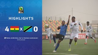 HIGHLIGHTS   Total AFCONU20 2021   Round 1 - Group C : Ghana 4-0 Tanzania