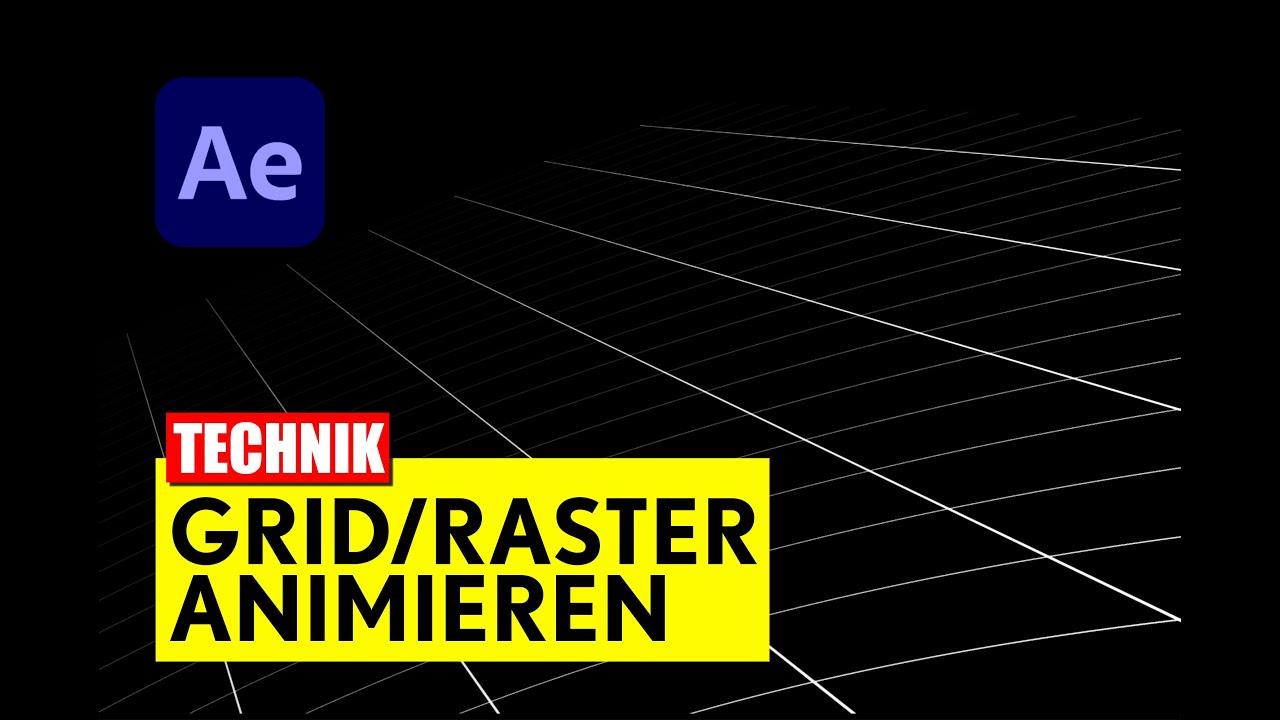 After Effects: Grid animieren - Tutorial - deutsch