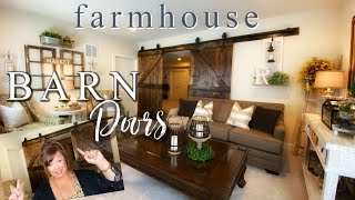 DIY - RUSTIC FARMHOUSE BARN DOORS | ROOM TOUR