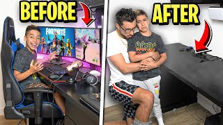 Somebody STOLE Ferran's GAMING SETUP!! (HEARTBROKEN) | The Royalty Family