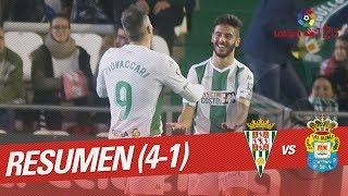 Resumen de Córdoba CF vs UD Las Palmas (4-1)