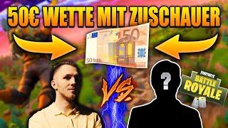 15KILLS 50EURO WETTE MIT ZUSCHAUER | Schaffe ich das? | Fortnite Battle Royale