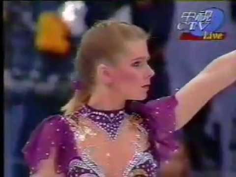 Tonya Harding >> 伝説の「トーニャ・ハーディング事件」 1994年リレハンメル五輪FS - YouTube