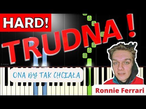 🎹 Ona by tak chciała (Ronnie Ferrari) - Piano Tutorial (TRUDNA! wersja) 🎹
