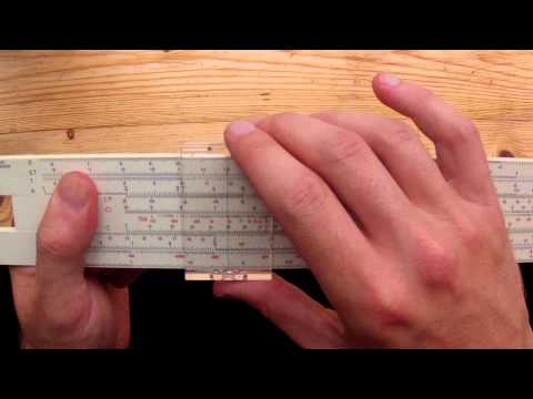 Using A Slide Rule to Calculate 14 x 21
