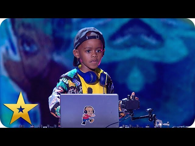 DJ Arch Jnr gets the party started!   BGT: The Champions