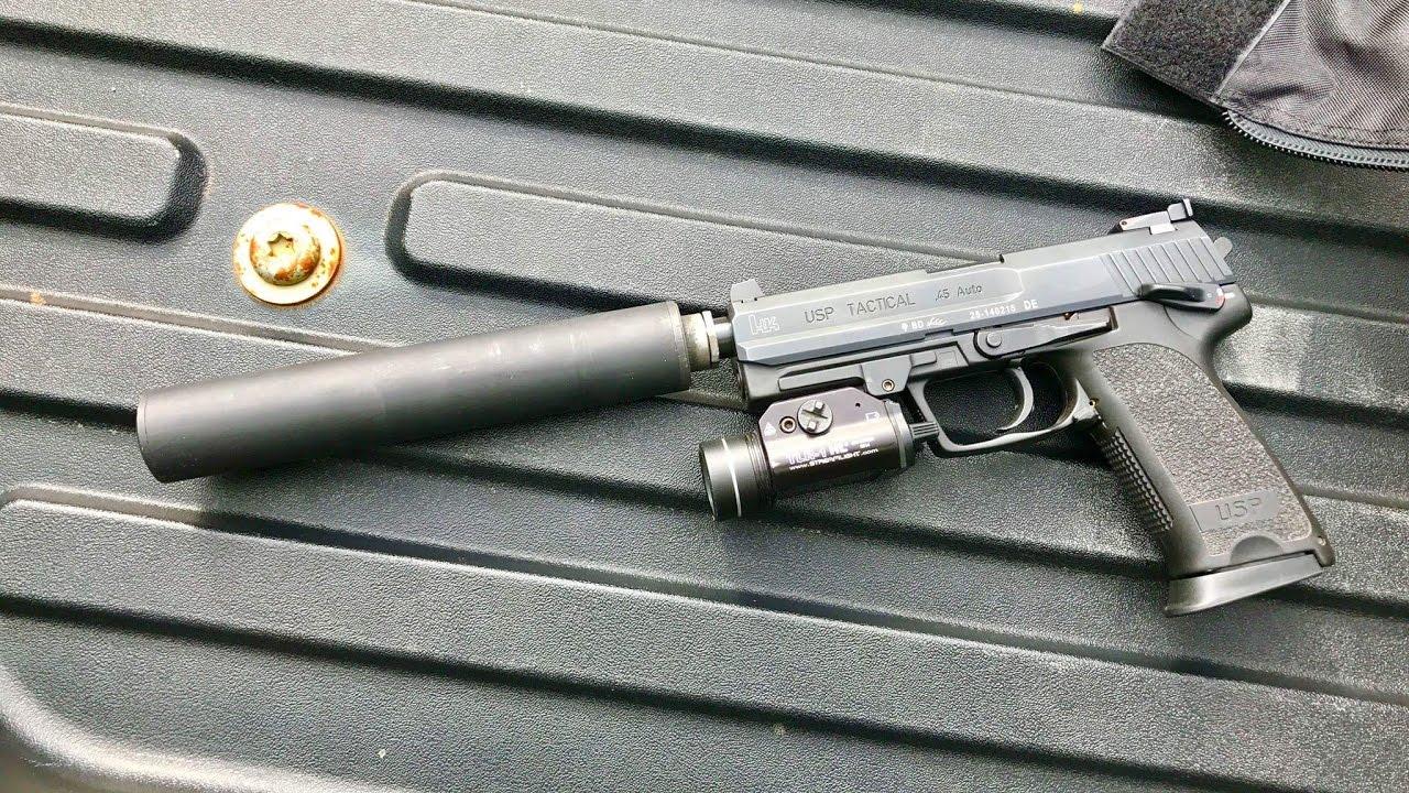 HK Heckler & Koch USP  45 ACP Tactical with Silencer