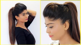 New Puff with Ponytail Hairstyles for School, College & Office Girls | Rinkal Soni