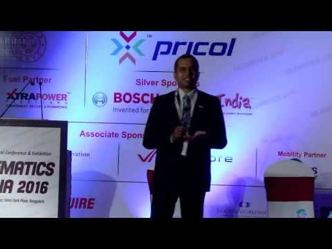 Rajendra Nath Goswami, Senior General Manager, Robert Bosch - Telematics India 2016