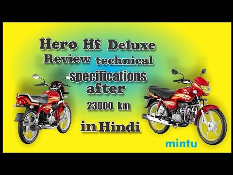 2017 Hero Hf Deluxe Review Technical Specifications After 23000 Km In Hindi Youtube