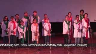 """Bharat Mata Teri Kasam"" - Performance by students of Ridge Valley School"