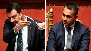 Zoom su Salvini e Di Maio: le loro facce durante il discorso di Conte in Senato