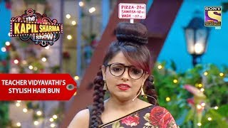 Teacher Vidyavathis Stylish Hair Bun - The Kapil Sharma Show