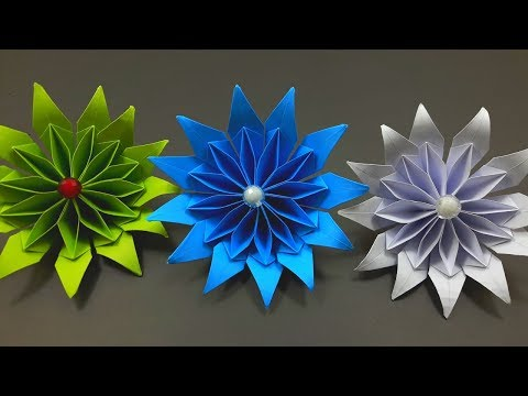 DIY Paper Flower Making Tutorials | How to Make Awesome Paper Flower | Flower Origami