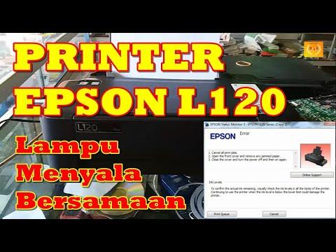 Cara Memperbaiki Printer Epson L120 Lampu Berkedip Bergantian.