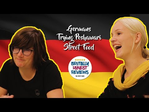 German Girls Trying Peshawar Street Food | Kahn Saab | Brutally Honest Review Epi 01