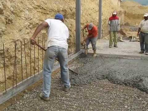 Contruccion colocacion de concreto rcc 250 kg cm2 - Losas de piso exterior ...